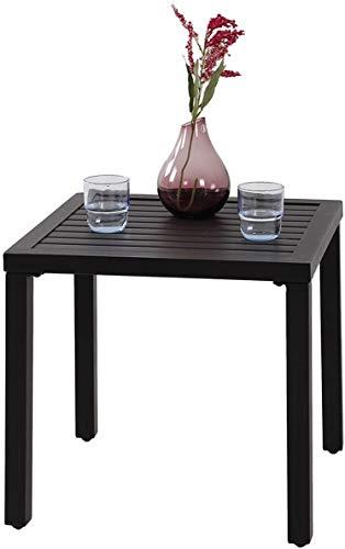 TITLE_PHI VILLA Indoor Outdoor Small Metal Patio Coffee Bistro Table