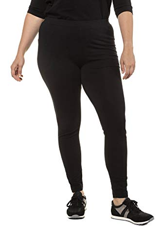 Ulla Popken Große Größen Damen Skinny Leggings 48554882, Schwarz (schwarz 10), 50/52