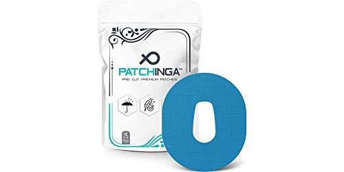 PATCHINGA   25x Dexcom G6 Pflaster, CGM Sensor Patch, Fixierung, Overpatch, Tape, selbstklebend, wasserfest, hautfreundlich, haltet bis zu 10 Tage - Erhältlich in 4 Farben (blau)