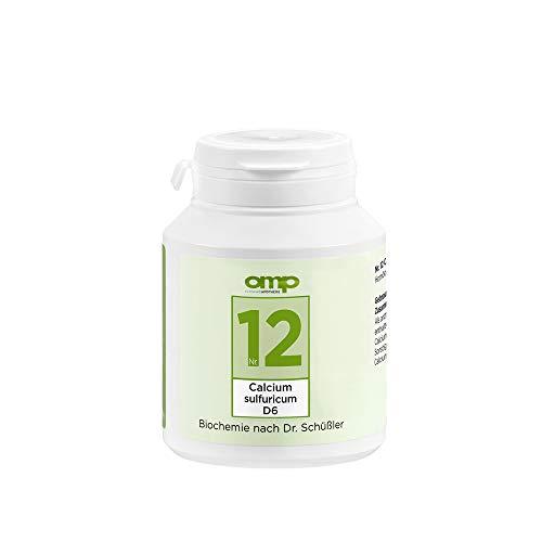 Schüssler Salz Nr. 12 Calcium sulfuricum D6 | 400 Tabletten | Das Salz der Gelenke | glutenfrei