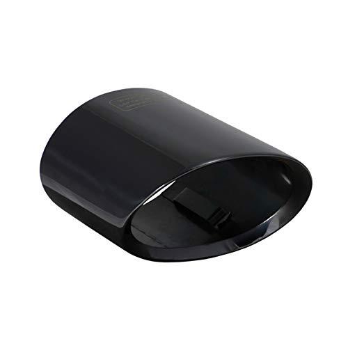 L&P A301 Auspuffblende Endrohrblende Edelstahl Schwarz spiegel poliert Chrom kompatibel mit 1er e81 e82 e87 e88 LCI X1 e84 Plug Play Ersatzteil Endrohrblenden Schwarzchrom Auspuff Endrohr Blende