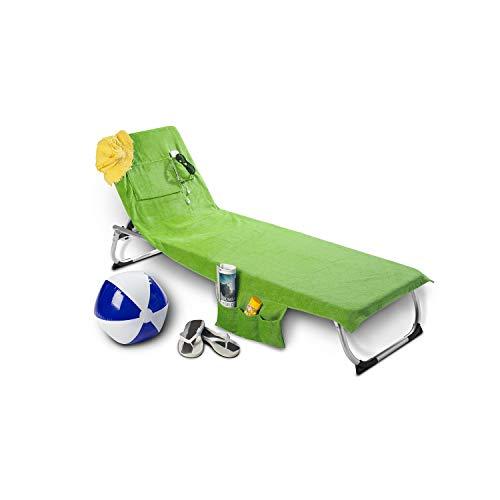 Beachbag ! Das Original ! Strandtasche mit Multifunktion zum Strandtuch Kiwi Microfaser Velours
