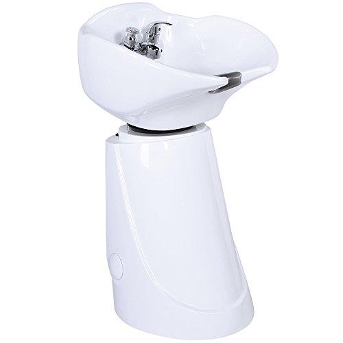 Salon Beauty Modern White Free Standing Shampoo Bowl Unit