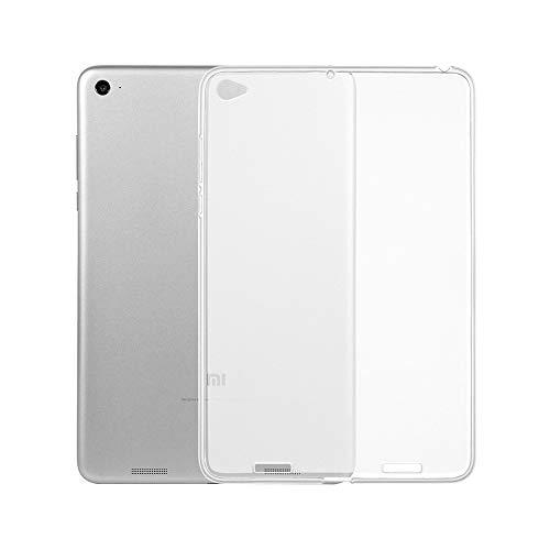 YHWW Protector de Pantalla Fundas de Silicona Suave Transparente para Xiaomi Mi Pad 1 2 4 7.9 8.0 Pulgadas Tablet Funda Trasera Transparente Mate para Xiaomi Mi Pad 4 Plus Funda, para Xiaomi