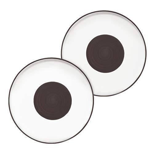 CSYY 2PCS Groß Pastateller Keramik, 26cm Speiseteller oder Frühstücksteller runder Essteller aus hochwertigem Steinzeug