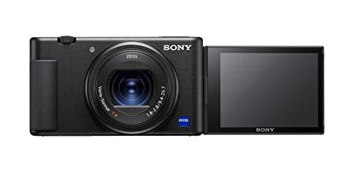 Sony Vlog-Kamera ZV-1 (Digitalkamera, 24-70mm, seitlich klappbares Selfie-Display für Vlogging & YouTube, 4K Video)