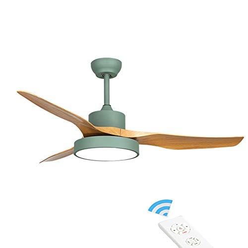 Metalen blikken asbak 3 vleugels 3 snelheden plafondventilatoren met verlichting, plafondlamp monteren plafondventilatoren binnenverlichting plafondlamp ventilator -groen A