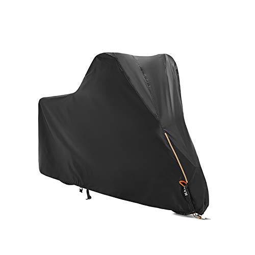 Car Funda para Moto Compatible con la Funda de Motocicleta Piaggio Fly 50 4V, Funda de Tela Oxford para Scooter, Funda de Moto con Tira Reflectante/Orificios de Bloqueo/Bolsa de Almacenamiento/Canda