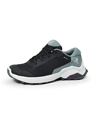 Salomon Women's Hiking Shoe, black/stormy weather/Ebony,7 M US