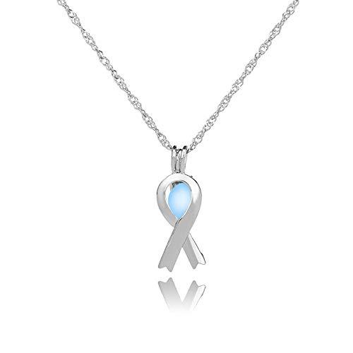 YQMR Collares Luminoso Colgante,Señoras Gren Colgante Luminoso Collar De Plata Moda Ahueca hacia Fuera La Cadena De Clavícula Joyería De Diseño Mujeres Día De Cumpleaños O La