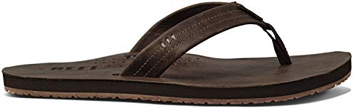 Reef Men's Leather Sandals with Bottle Opener, 10 (Chocolate)