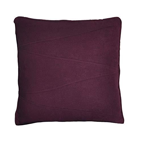 UK Care Direct Luxe V Cousu en suédine Coussin, Coussin intérieur de Plumes de Canard, Violet, with Duck Feather Cushion Pad