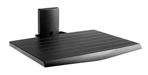 Meliconi AV SHELF, Ripiano per apparecchi A/V, Colore Nero, certificazione TUV, Made in Italy