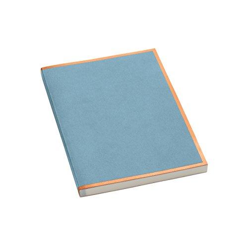 Semikolon (355814) Notizbuch metallic A5 Kupfer-Kante ciel (hell-blau) liniert - Mit 200 perforierten Seiten - Efalineinband mit Metallic-Effekt