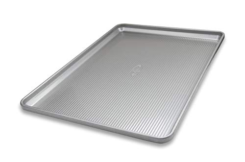 USA Pan 1051HS-1 Bakeware Heavy Duty Half Sheet, Warp Resistant Nonstick Baking Pan