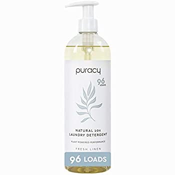 Puracy Natural Liquid Laundry Detergent Hypoallergenic Enzyme-Based Fresh Linen 24 Fl Oz  Pack of 1