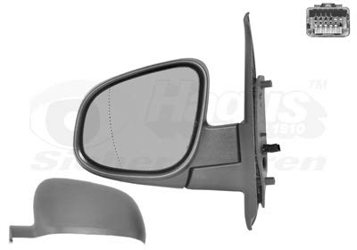 Retrovisor eléctrico izquierdo gris metal para Renault Kangoo junio 13 hasta el...