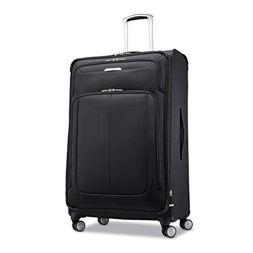 Samsonite Solyte DLX Softside Expandable Luggage with Spinner Wheels, Midnight Black