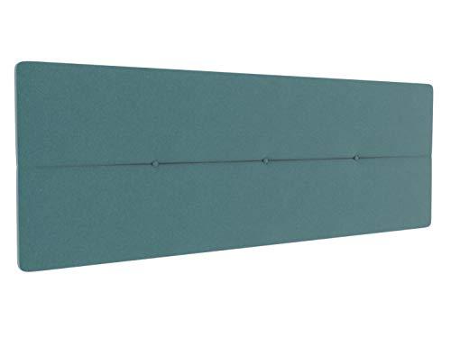 LA WEB DEL COLCHON - Cabecero Tapizado Génova para Cama de 150 (160 x 55 cms) Turquesa Textil Suave | Cama Juvenil | Cama Matrimonio | Cabezal Cama | Cabeceros tapizados Dormitorio