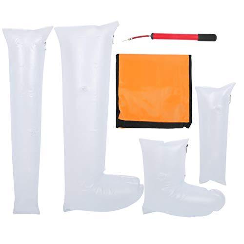 Férula para fractura de tobillo, pierna y brazo, kit de emergencia, férula inflable con mano, muñeca, codo, medio brazo, brazo completo, pie, tobillo, media pierna, pierna completa, estabilizador