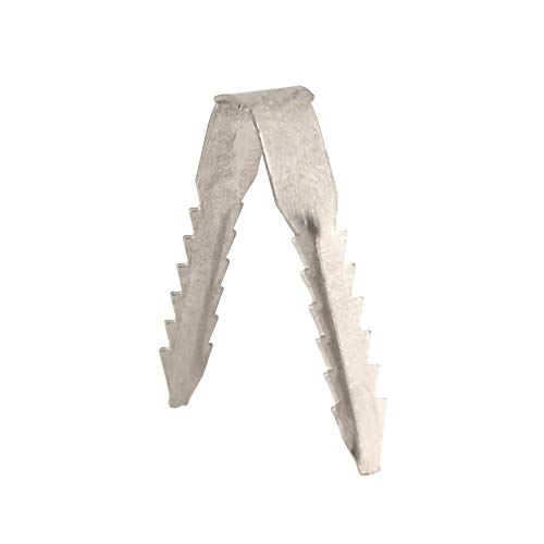 Aluminum Cable Clips for Stucco Surfaces, Qty 100