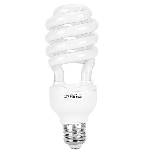 Andraw Lámpara de luz Solar para Plantas suculentas de Lagarto UVb, lámpara Ultravioleta de 26 W para estimular la reproducción,(10.0 (Suitable for Deserts))