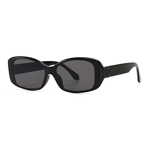 ZZOW Gafas De Sol Rectangulares De Moda para Mujer, Diseñador De Marca, Gafas con Gradiente De Leopardo Vintage, Gafas De Sol con Tendencia para Hombre, Sombras Uv400