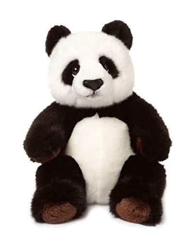 WWF WWF00542 Plüsch Panda, realistisch gestaltetes Plüschtier, ca. 22 cm groß und wunderbar weich