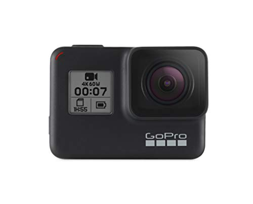 GoPro HERO7 Black Starter Kit with 32GB SD Card, AmazonBasics Carrying Case, Head Strap, and Floating Hand Grip