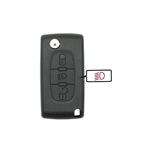 Coque de clé compatible peugeot-citroën 3 boutons