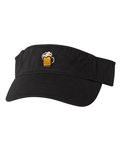Go All Out Adjustable Black Adult Beer Mug Embroidered Visor Dad Hat