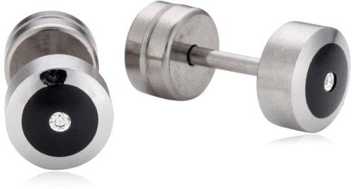 Xen - Pendientes de acero inoxidable con diamante