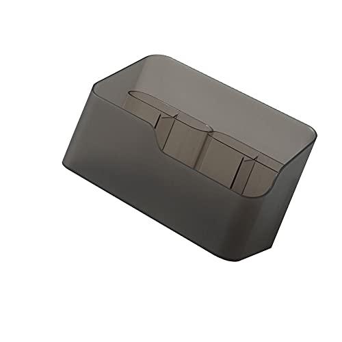 SHYPT Caja de Almacenamiento Maquillaje Brocha Pen Joyería Plástico Lavable Cosméticos Grid Organizador Holder para Bathroom Habitación Oficina (Color : Coffee Color)