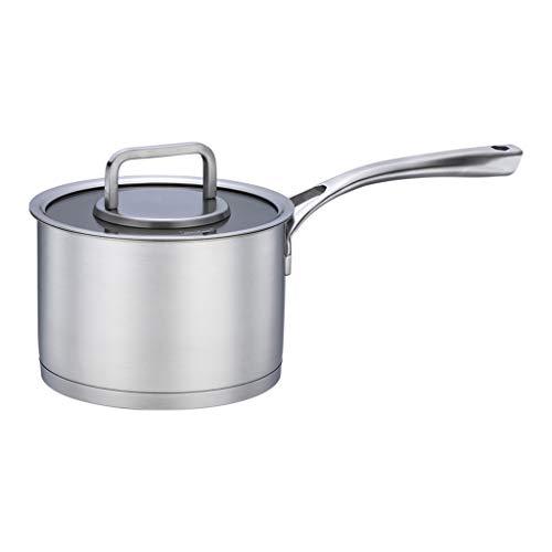 Casserole à lait en acier inoxydable 304 double fond épaississement cuisinière à induction universelle petite casserole bouillante pot de lait chaud 18cm