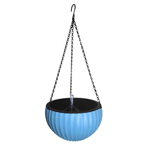 Yarnow Cesta para Plantas Colgada en La Pared Macetas Suculentas de Plástico Soporte para Macetas de Flores para Interiores Balcón Exterior Jardín Azul Talla L