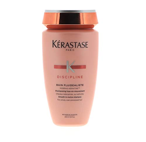 Kerastase Discipline Bain Fluidealiste Smooth-In-Motion Sulfate Free Shampoo For Unruly, Over-Processed Hair (new Packag