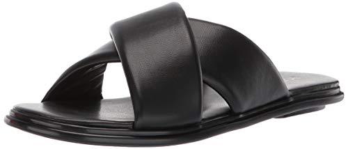 BCBGeneration Women's Eloise Flat Sandal Slipper, Black, 9 M US