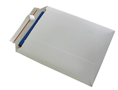 Versandtaschen weiß ungestrichen Vollpappe weiß Karton DIN A3 - flach:455x320mm / aufgestellt 440x270x50mm (PS.195) (10)