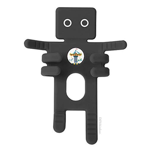 DIYthinker Erstaunlich Lustige Park Karussell Illustration Schwarz-Telefon-Einfassung Auto-Armaturenbrett-Halter für Handy-Geschenk