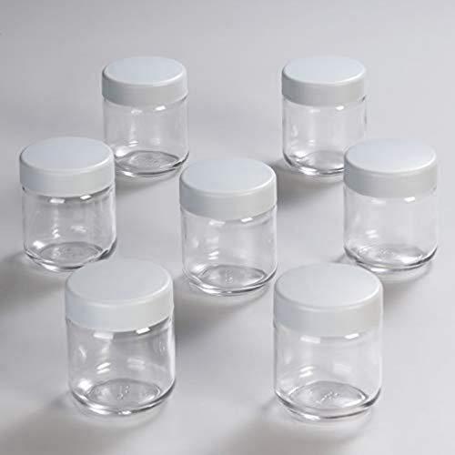 Severin EG 3517 8 Vasos de Repuesto con Tapa, Cristal/Plástico, Transparente