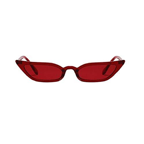 LUCKYCAT Sonnenbrille für Damen Herren, Unisex Vintage Katzenaugen Kleine Rahmen Oval Mode Anti-UV Gläser Sonnenbrillen Schutzbrillen Männer Frauen Retro Billig Cat Eye Sunglasses Women Eyewear