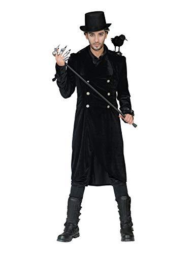 Herren Gothic Mantel schwarz Gr. L, XL Samt-Mantel Halloween Kurzmantel Gehrock (XL)