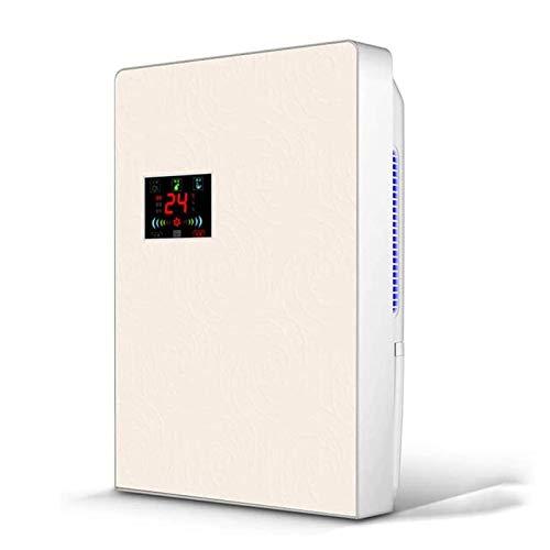 SZHWLKJ Deshumidificador con purificador de aire Pantalla de humedad digital, deshumidificador tranquilo, deshumidificador portátil del deshumidificador de baño for dormitorio, habitación de bebé, hog