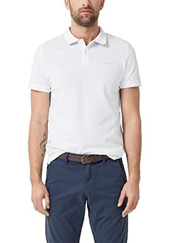 s.Oliver Herren 03.899.35.4586 Poloshirt, Weiß (White 0100), XX-Large