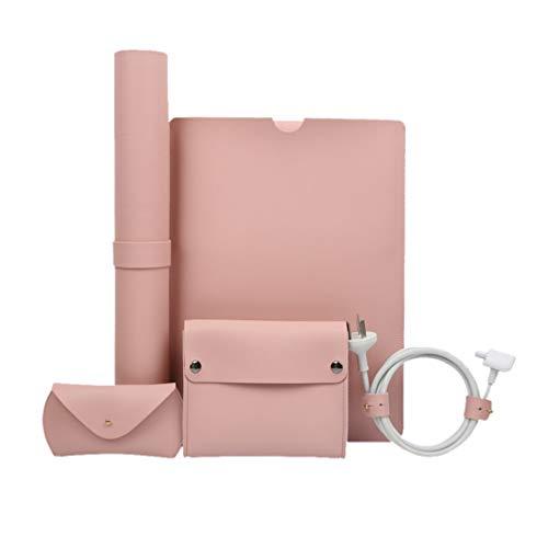 Mobestech Tablet Bundle Case with Power Pouch Desk Pad Mouse Bag Cord Straps 13 Inch