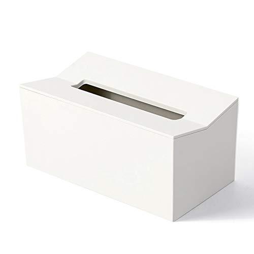 PPuujia Caja de pañuelos de cocina para pañuelos de papel, para servilletas, dispensador de pañuelos, contenedor montado en la pared para toallitas (color: blanco)