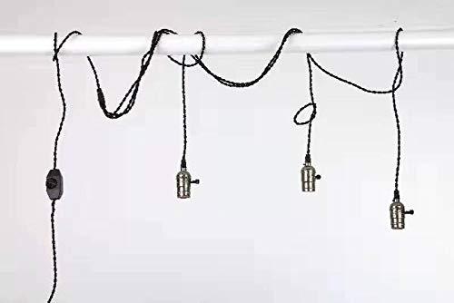 PIANUO Retro Pendelleuchte mit Schalter Spinnenlampe Industrial Vintage 3 Flammig E27 Hängelampe Bronze