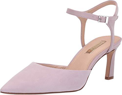 LOUISE ET CIE KAIYLA Pointed Toe Ankle Strap Pump Pale Lavender Dress Pumps (9, Pale LAVEN)