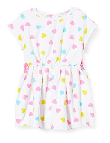 United Colors of Benetton Baby-Mädchen Vestito Kleid, Weiß (Bianco 89d), 68