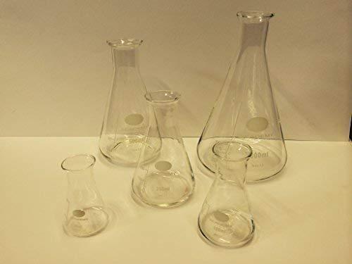 Set Flask Conique En Verre De Borosilicate De Laboratoire 50; 100; 250; 500; 1000Ml-1 De Chaque